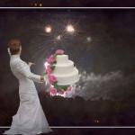 結婚式演出【新】ウェディングケーキにプロジェクションマッピング